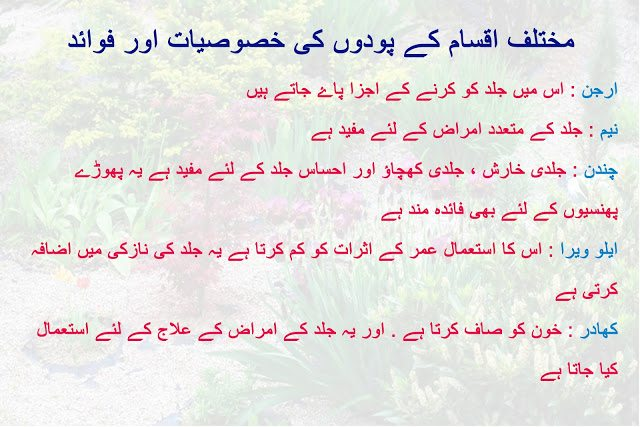 Health benefits and characteristics of plants in urdu and hindi