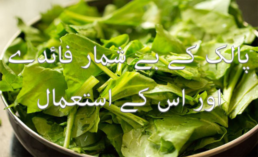 Spinach uses and health benefits in urdu and hindi