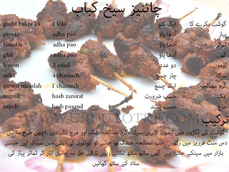 seekh kebab recipe in urdu