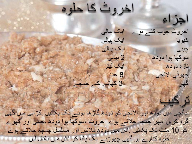 akhrot ka halwa recipe in urdu