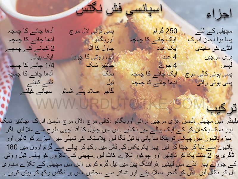 spicy fish nuggets recipe in urdu
