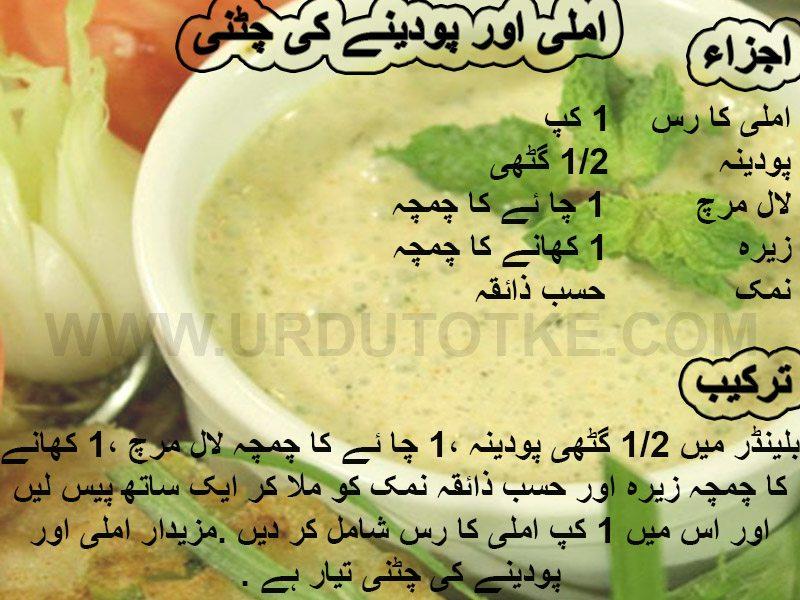 pudine aur imli ki chutney ramadan recipes for iftar