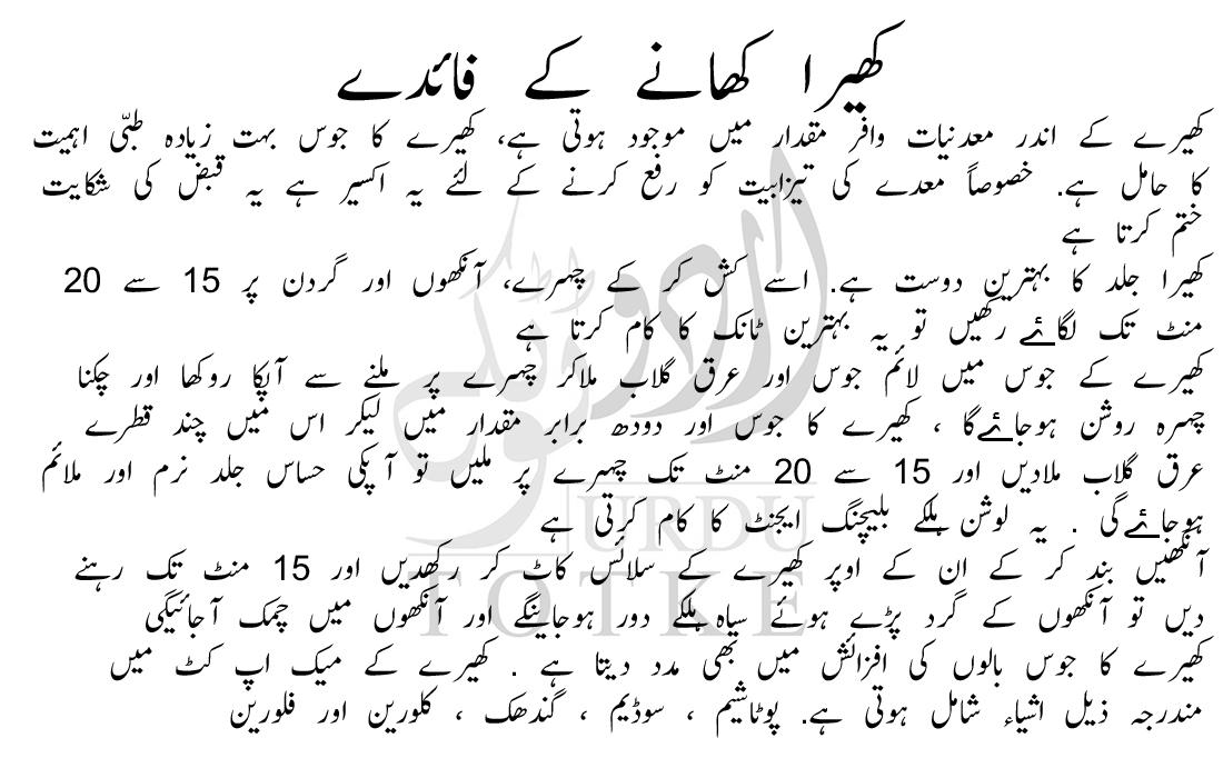 kheere ka juice in urdu