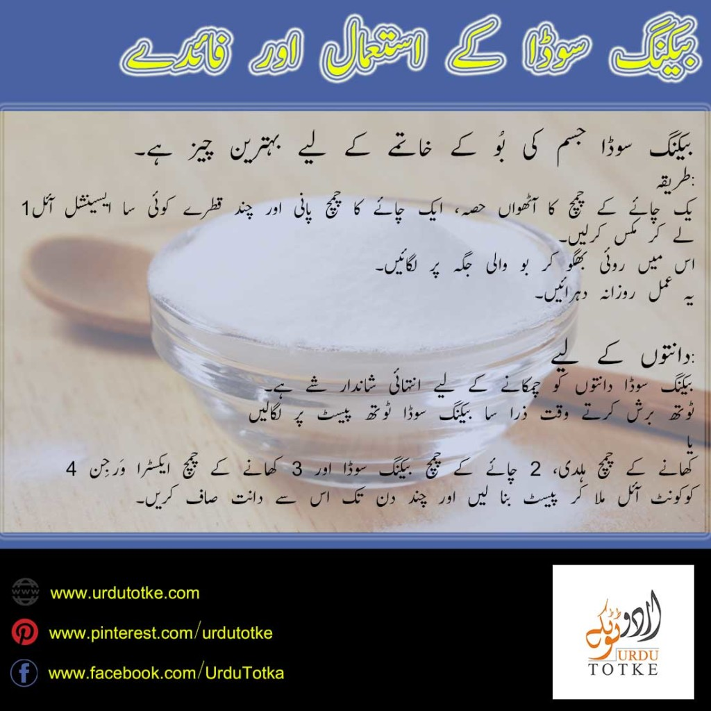 baking soda uses in urdu