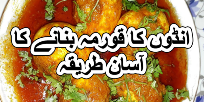 anday ka qorma recipe in urdu
